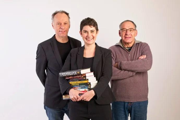 Johan Ehrenberg ETC, Moa Elf Karlén Leopard förlag och Dan Israel Leopard förlag