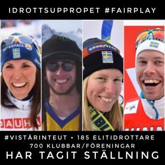 19 svenska OS-idrottare har ställt sig bakom Idrottsuppropet #fairplay