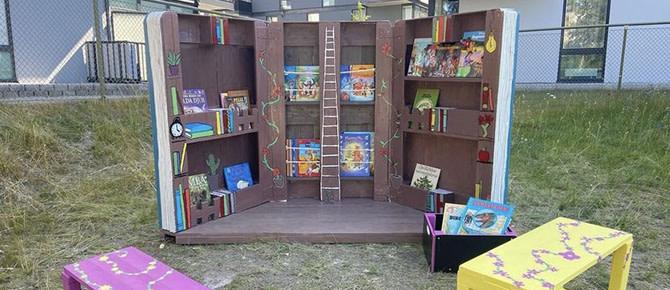 Utomhusbibliotek och förvandlade skol- och förskolegårdar 4