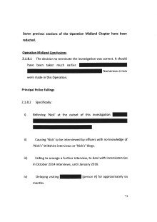 Redactions - Principal Police Failings on Operation Midland