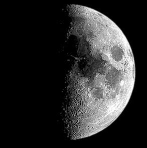 月亮的形狀變化