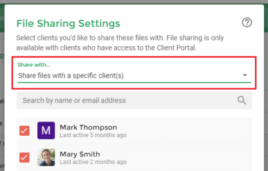 File Sharing Settings - Practice Better