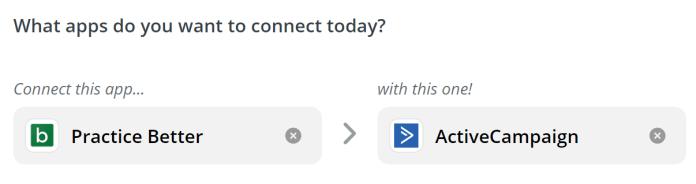 Connect Apps - Practice Better: Zapier