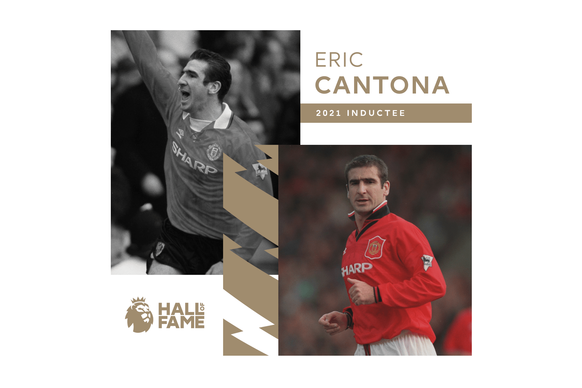 Buy (reduced) eric cantona nike advert tee (like new) in singapore,singapore. Cantona Inducted Into The Premier League Hall Of Fame