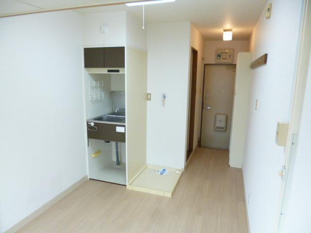 This is the kitchen unit in the apartment.