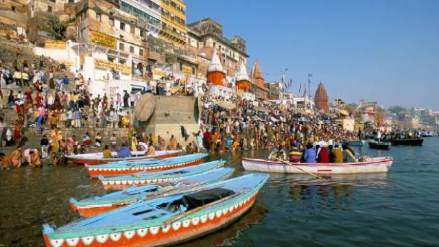 Early morning bathing in the Ganges.