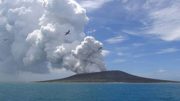 Underwater Volcano Erupting Near Tonga Nz