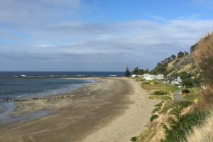"""Pourerere beach in Hawke's Bay. For 15 years, the East Coast has been shifting due to """"slow-slip events""""."""