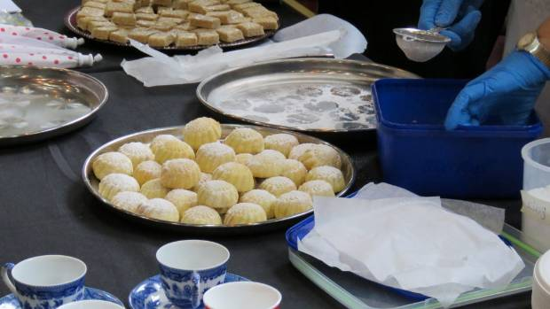 Delicious Syrian treats were served at the luncheon.