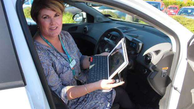 Waitemata DHB speech and language therapist Bridget Oliver says her job on the road is now much easier thanks to a new iPad.