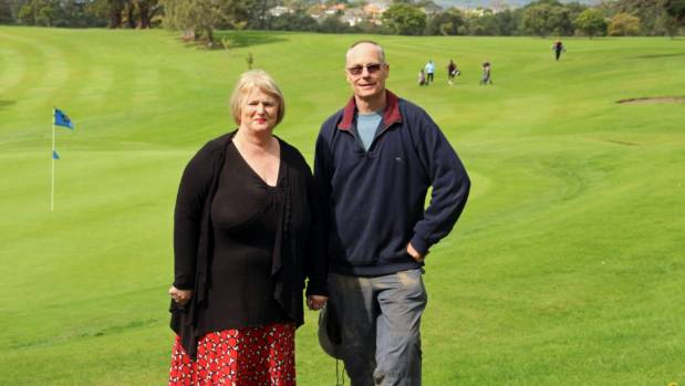 Hibiscus and Bays Local Board chairwoman Julia Parfitt with the bush society's Richard Hursthouse at Pupuke Golf Course, ...