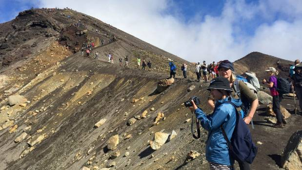 Overcrowding, such as that seen on the Tongariro Crossing, is a prime concern of Kiwis worried about the impact of ...
