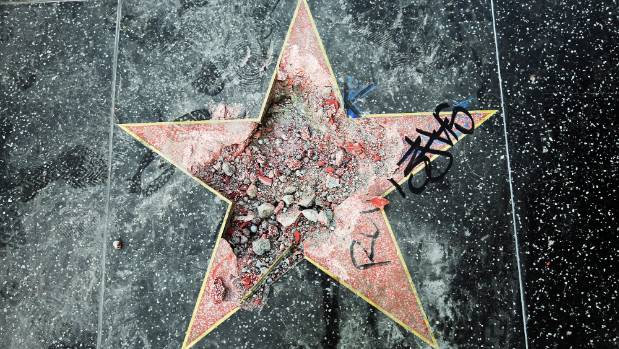 Image result for shattered Donald Trump walk of fame sar