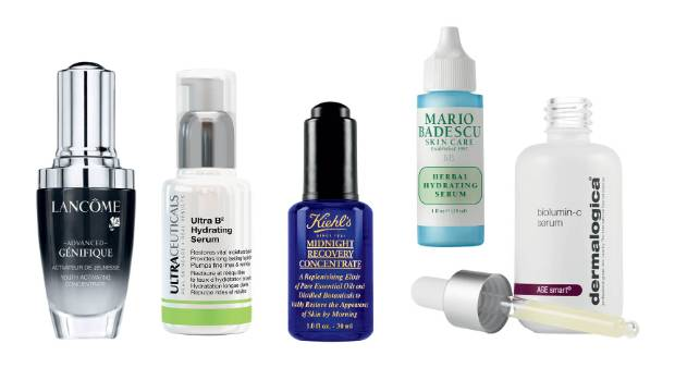 L to R: Lancome Advanced Genifique Youth Activator, $137; Ultraceuticals Ultra B2 Hydrating Serum, $102; Kiehl's ...
