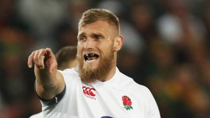 Brad Shields made his test debut for England against South Africa in June.