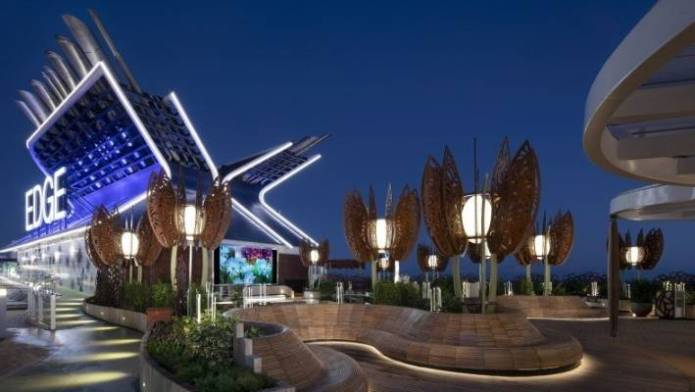 The roof garden on Celebrity Edge was brought to life with the help of architect Tom Wright.