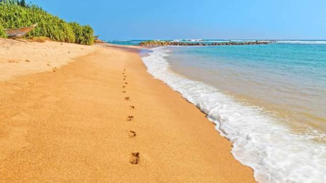 It's not hard to find empty stretches of sand in Sri Lanka.