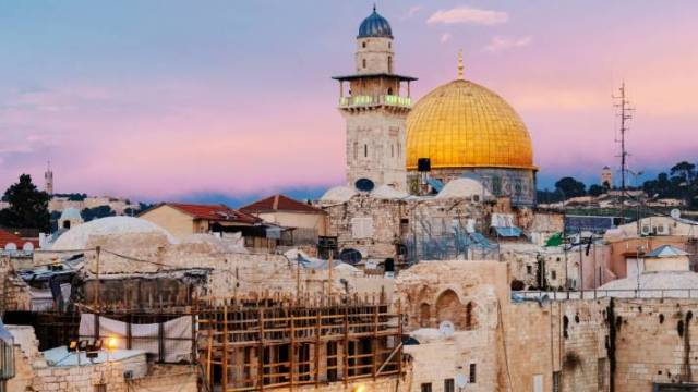 The Dome of the Rock in Jerusalem, said to be the oldest Islamic monument still in existence, is sacred to Muslims and Jews.