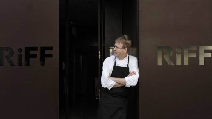 "Chef Bernd Knoller outside RiFF in Valencia. Knoller has expressed his ""deep sorrow"" over the death of Maria Fernandez Calvo."
