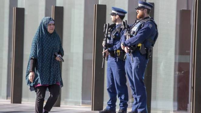 Family members and victims of the terror attack arrive at the Christchurch High Court for the fourth hearing of the accused gunman.