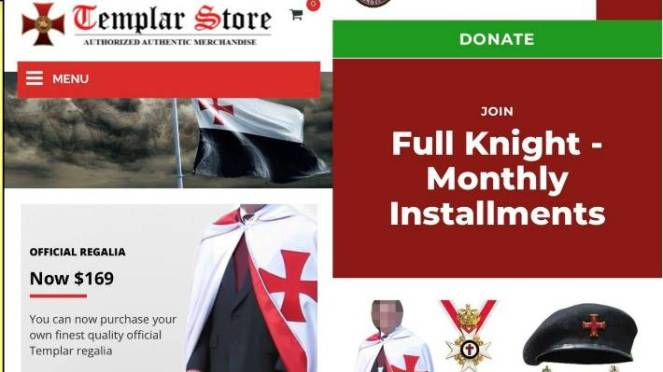 A 'Knights Templar' group uses a mixture of anti-Islamic rhetoric, medieval imagery, and elaborate memorabilia while requesting personal information in exchange for 'memberships'.
