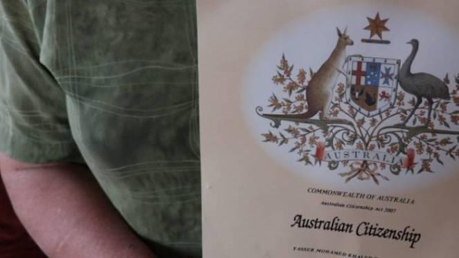 An Australian citizenship certificate was also left behind.