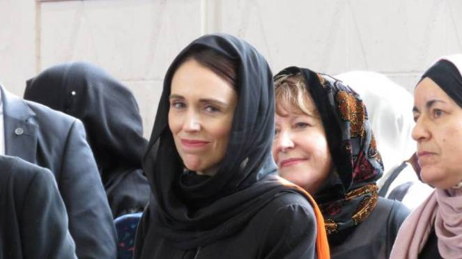 Prime Minister Jacinda Ardern visits Dunedin's Masjid Al-Huda.