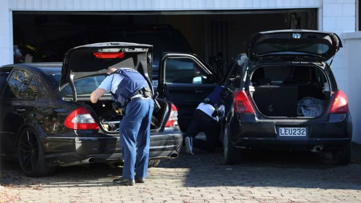 Armed offenders were seen searching an address and cars on Straven Rd in Fendalton on Thursday.
