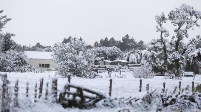 Snowy south Taranaki.