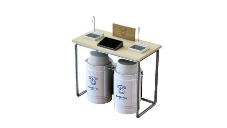 Happy Cow Milk has designed its own mobile milk tanks.