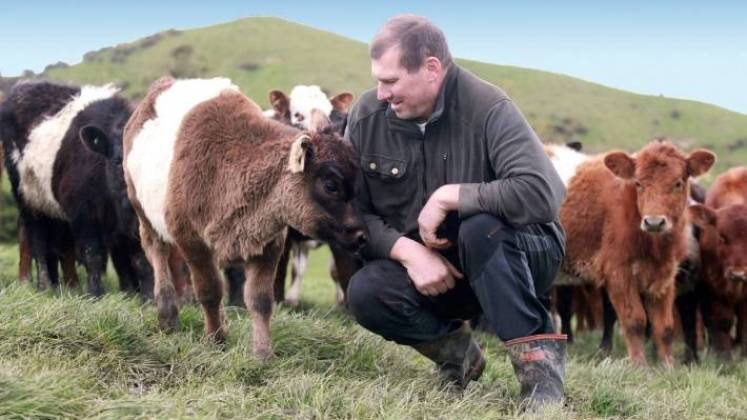 Happy Cow Milk farmer Chris Falconer will be supplying the company from October.
