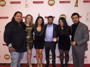 Representing XR Brands at the XBIZ Awards (left to right) Valentino Tolman, Rebecca Weinberg, Lynda Mort, Luis Ruiz, Nicole Braniff and Gerardo Ramos