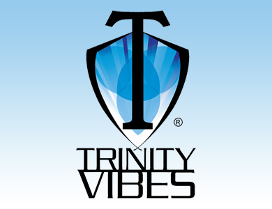 Trinity Men Logo on Blue Stacked 390 x 300