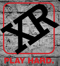 Official XR Play Hard Logo On Brick 200 x 221