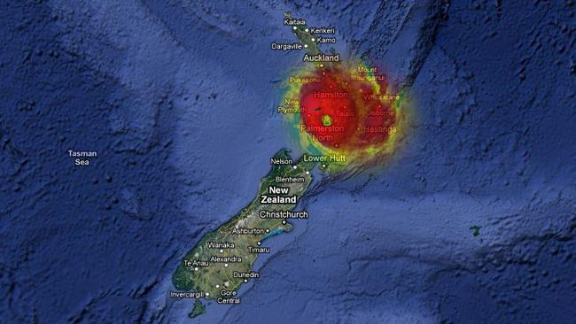 Yasi's eye over New Zealand