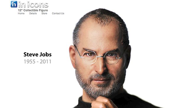Inicon steve jobs action figure design brother designbrother