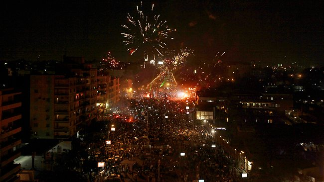 Fireworks over Cairo
