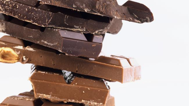 Chocolate is low in caffeine.