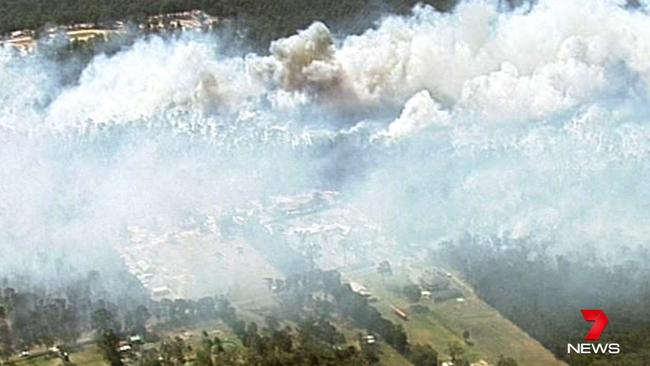 Castlereagh Fire Pics from Channel 7 Chopper.
