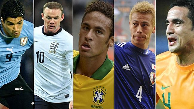 Suarez, Rooney, Neymar, Honda and Cahill will be stars at the World Cup.
