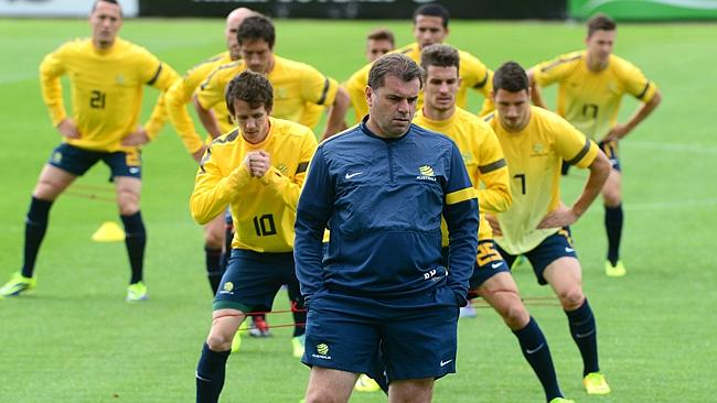 Ange Postecoglou with the Socceroos.
