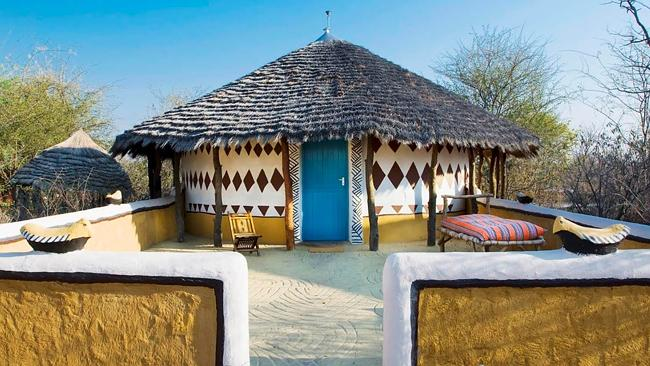 Planet Baobab is named after the trees surrounding its thatched huts. Image courtesy of U