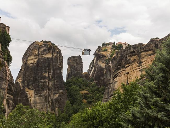 Cable car between monasteries at Meteora.