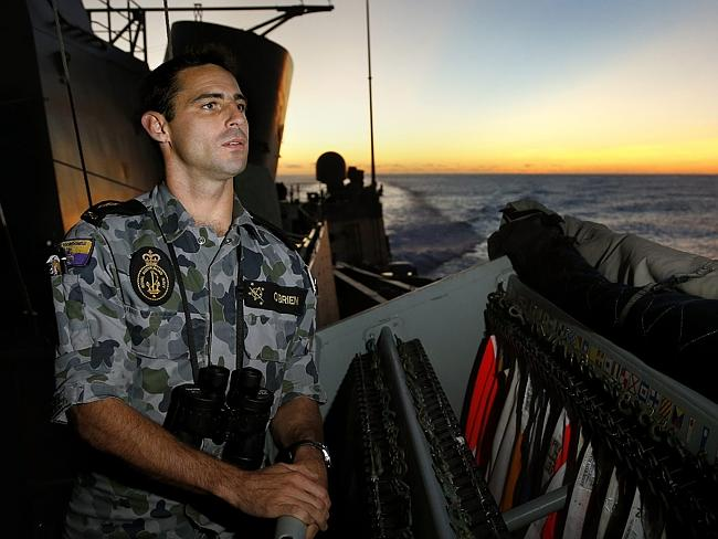Search continues ... Able Seaman Communications and Information Systems Noel O'Brien keep