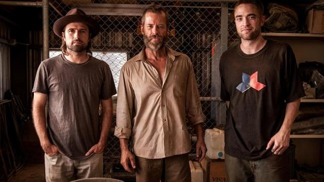 On location ... The Rover's director David Michod (left) was worried Guy Pearce, Robert P