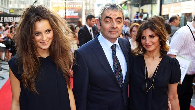 Show-stopper: Lily Atkinson, with parents Rowan Atkinson and Sunetra Sastry in 2011.