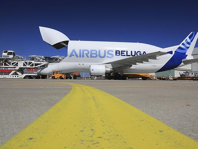 The specially designed plane is used to transport military equipment. Picture: Airbus.