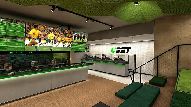 The hub of every UBET outlet will be a series of 24 TV screens.