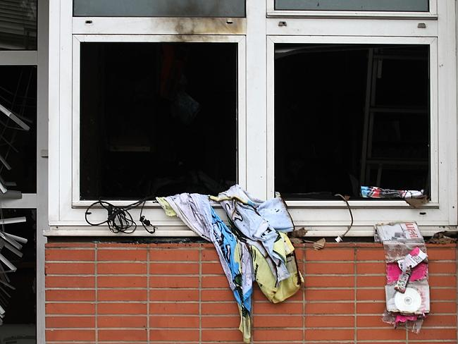 Previous attack ... this picture shows the offices of French satirical magazine Charlie H