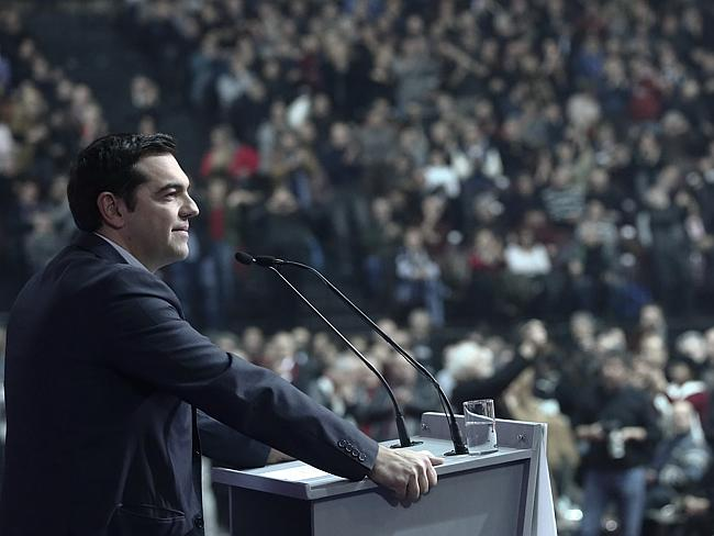 Greece's main opposition Syriza party leader Alexis Tsipras opposes more austerity and ha